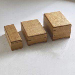 木製バターケース 3種類。100gサイズ用、200gサイズ用、450gサイズ用